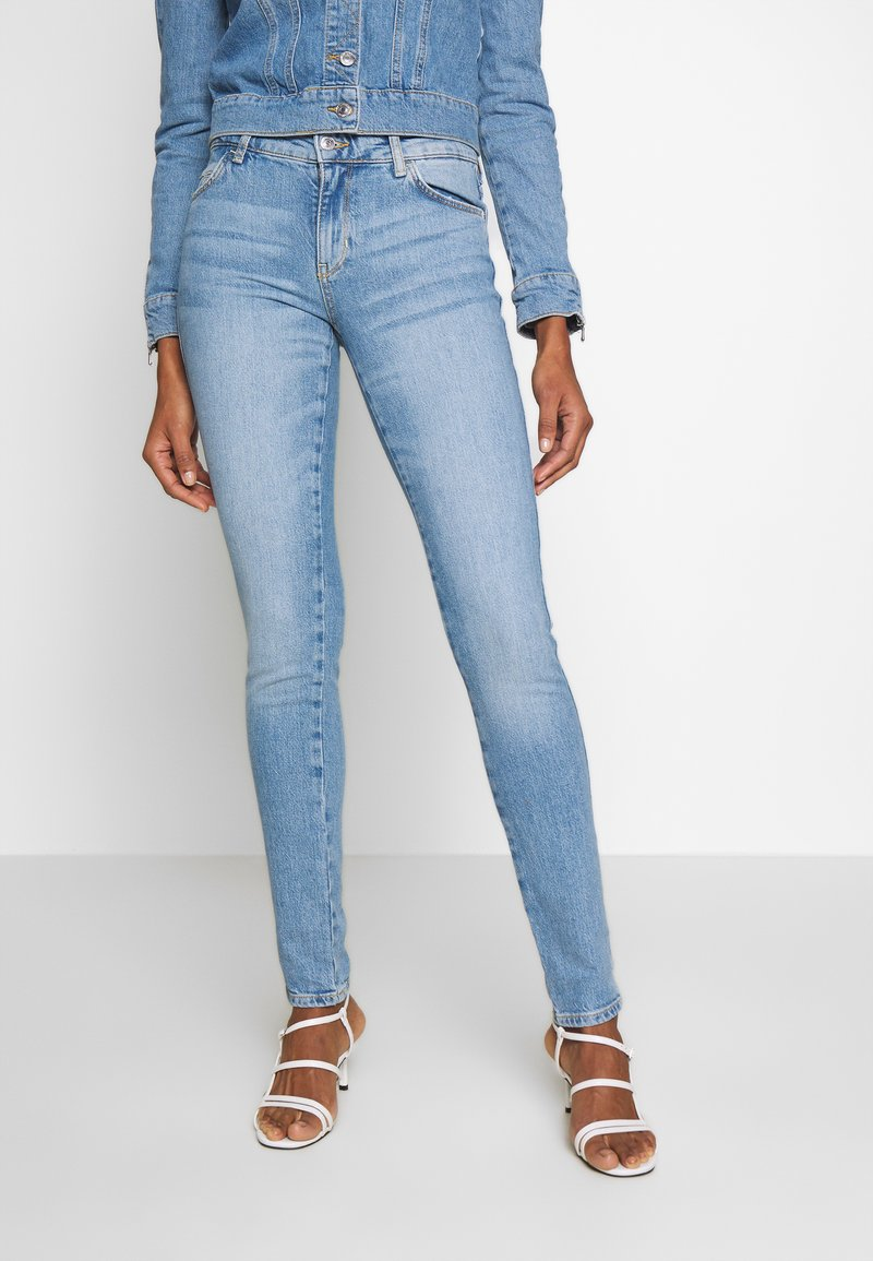 Guess - SEXY CURVE - Jeansy Skinny Fit - blue denim