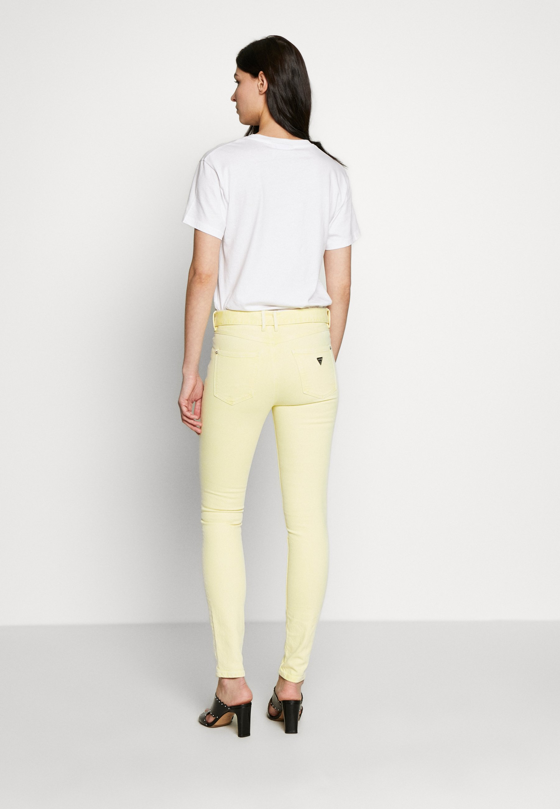 Guess Jeansy Skinny Fit - yellow