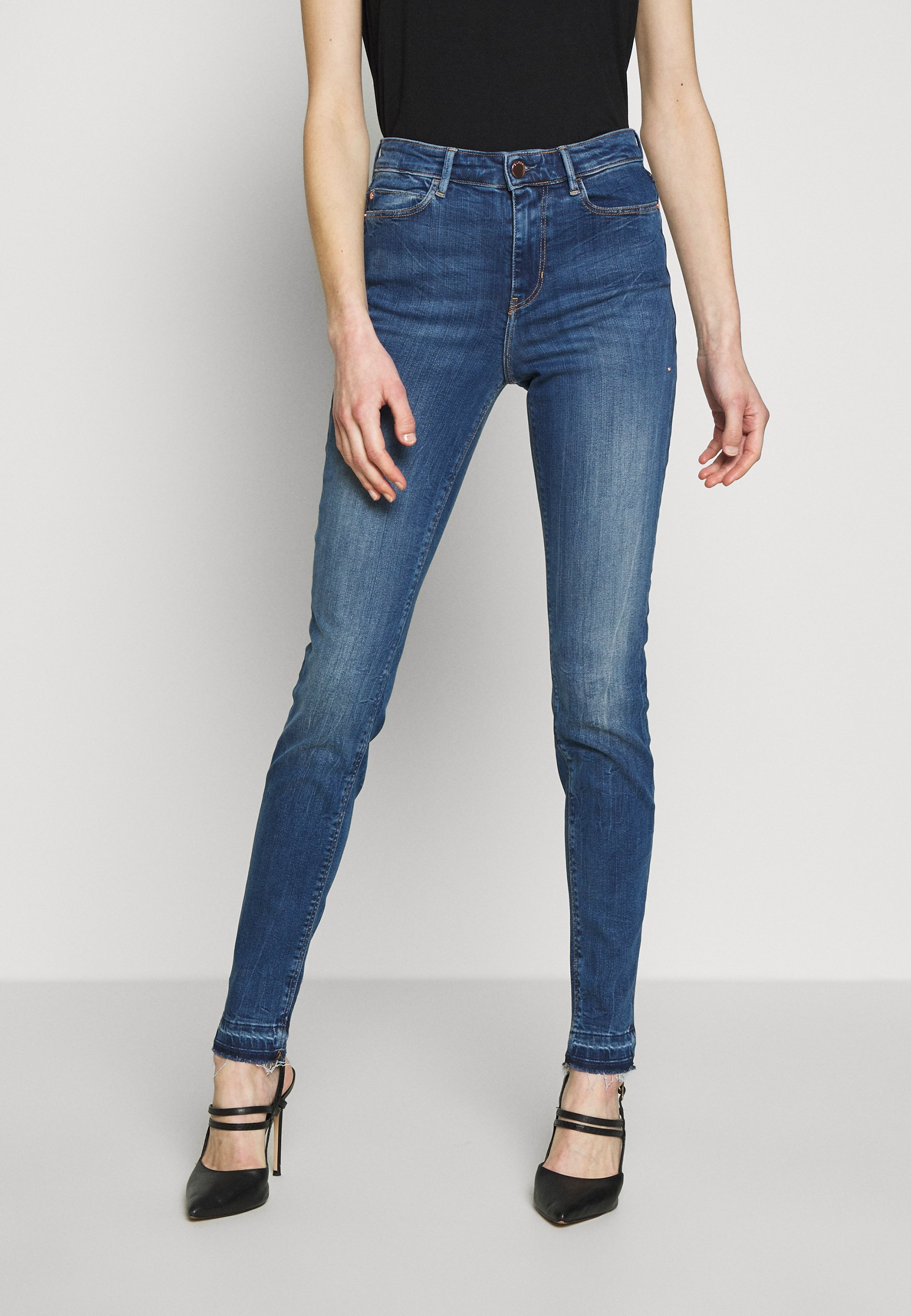 Guess 1981 - Jeansy Skinny Fit - eco feather mid