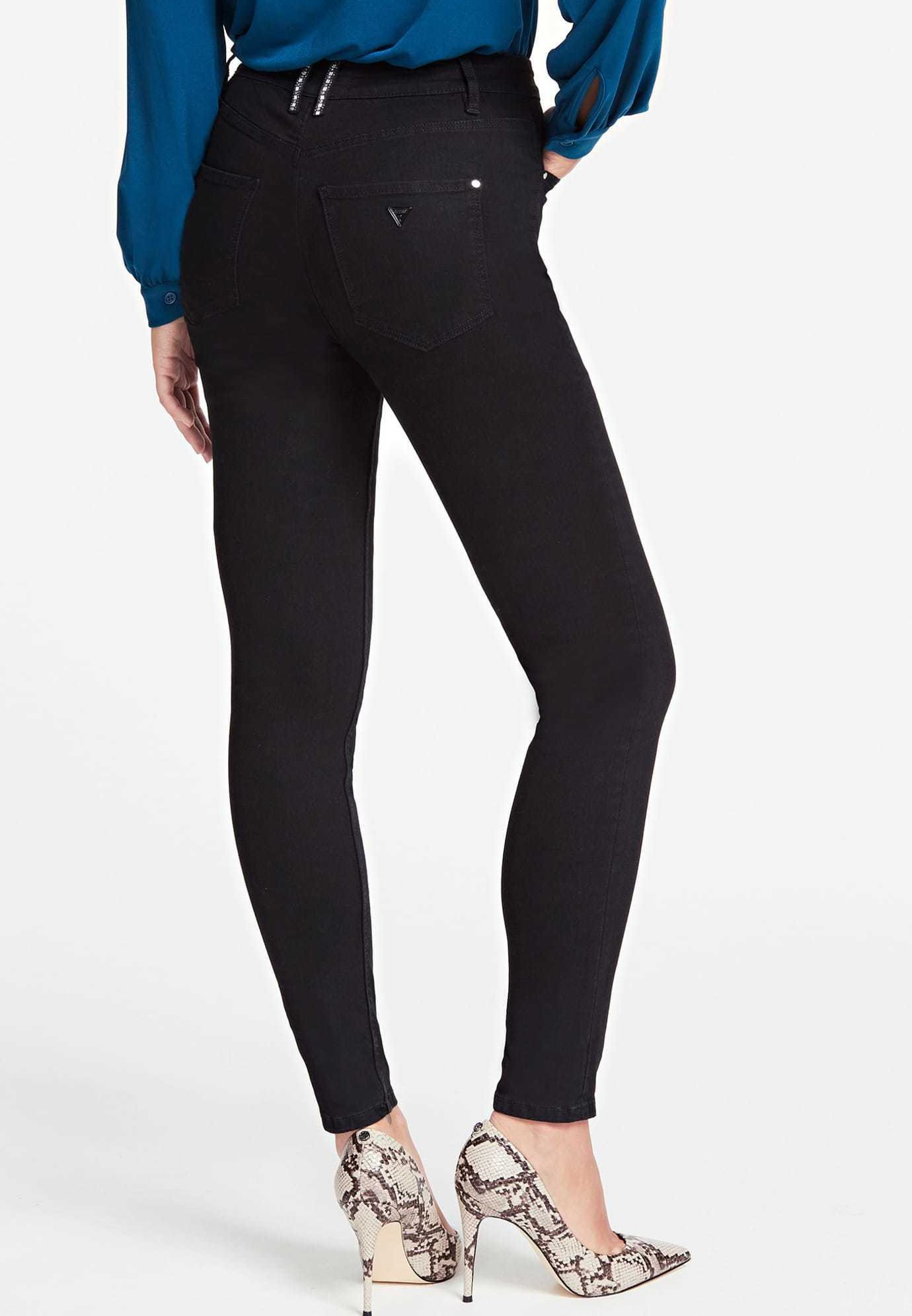 Guess Jeansy Skinny Fit - black