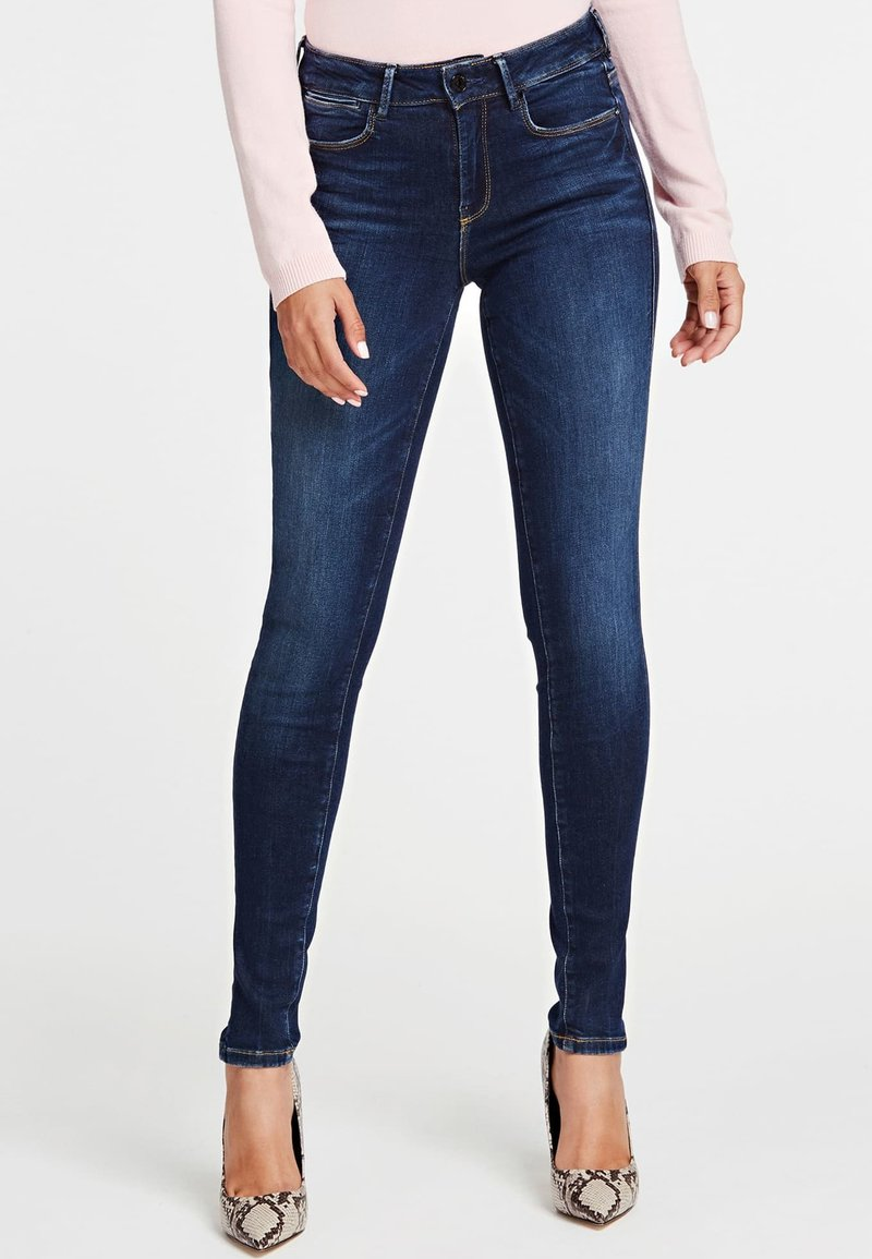 Guess - SUPER - Jeansy Skinny Fit - blue