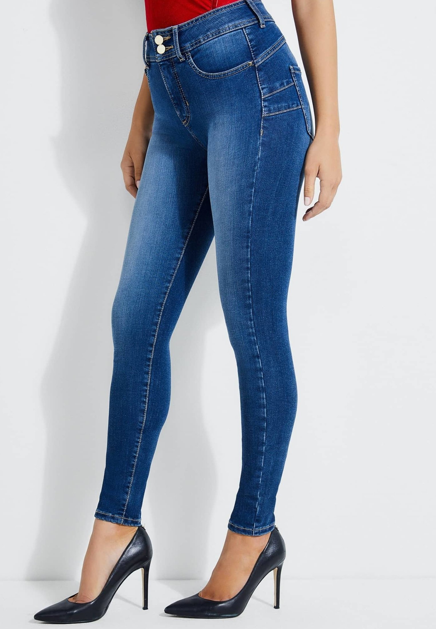Guess SHAPE-UP-JEANS SKINNY FIT - Jeans Skinny Fit - blau