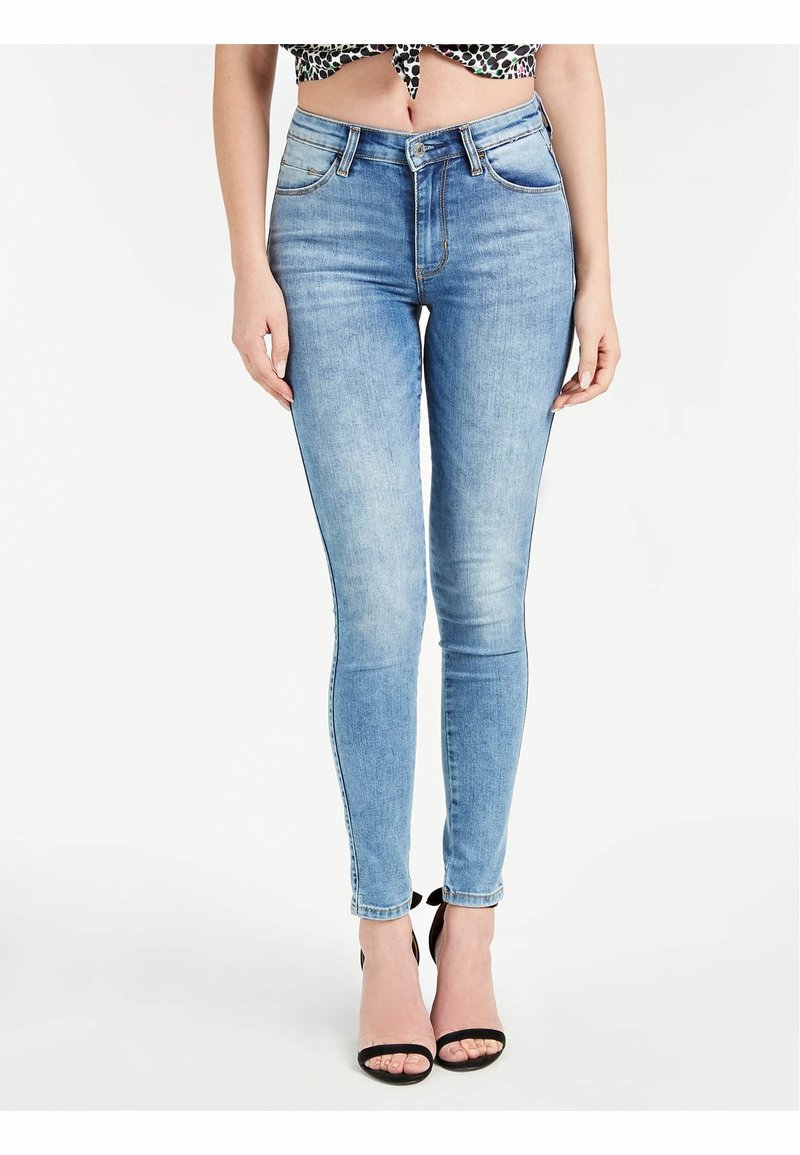 Guess - Jeansy Skinny Fit - blau