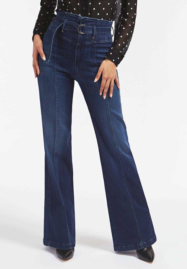 Flared Jeans - blau