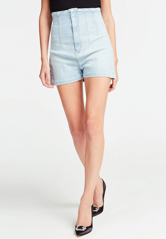 SKINNY - Szorty jeansowe - bleu ciel