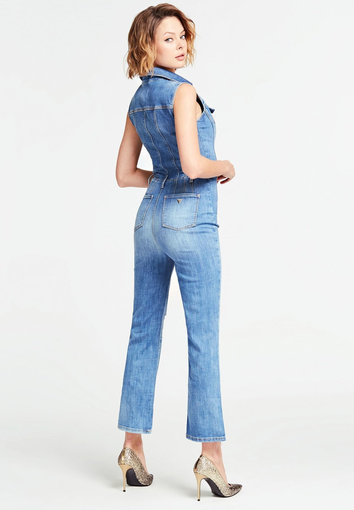 Guess Coupe Skinny - Jumpsuit Bleu QQCFiaB