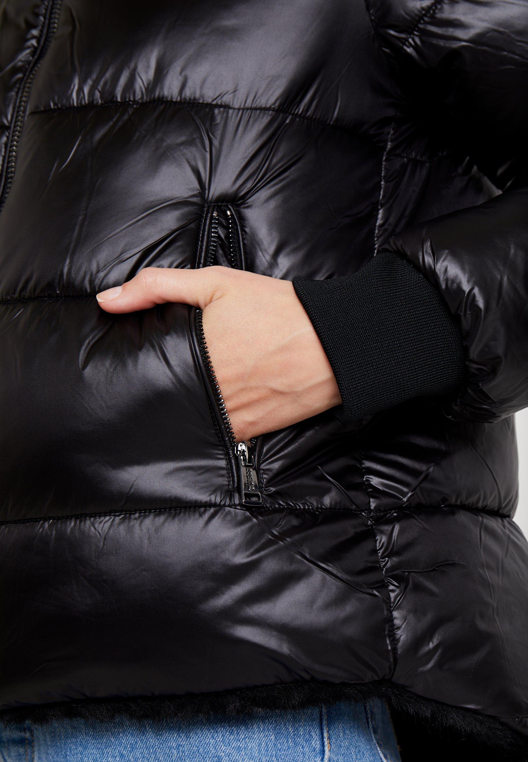 Guess FELICIA REVERSIBLE JACKET - Veste d'hiver jet black