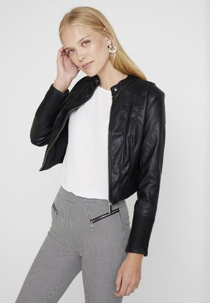 CYNTHIA JACKET - Giacca in similpelle - jet black
