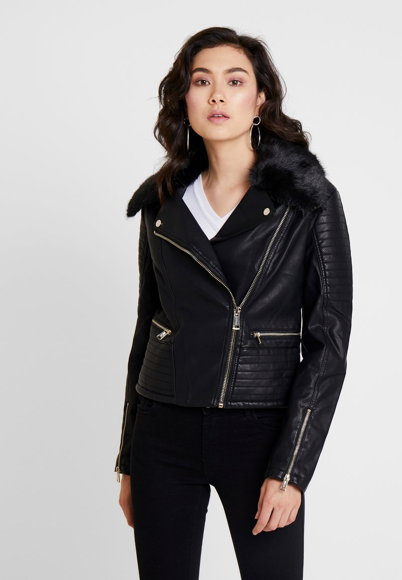 Guess - TASHA JACKET - Giacca in similpelle - jet black