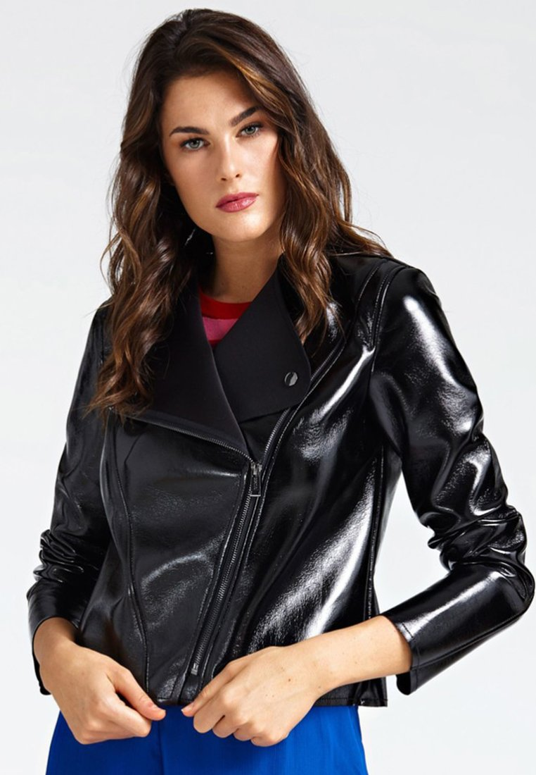 Guess - Faux leather jacket - black