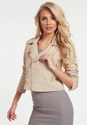 NATALIA  - Giacca in similpelle - beige