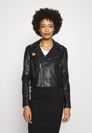 NATALIA JACKET - Faux leather jacket - jet black