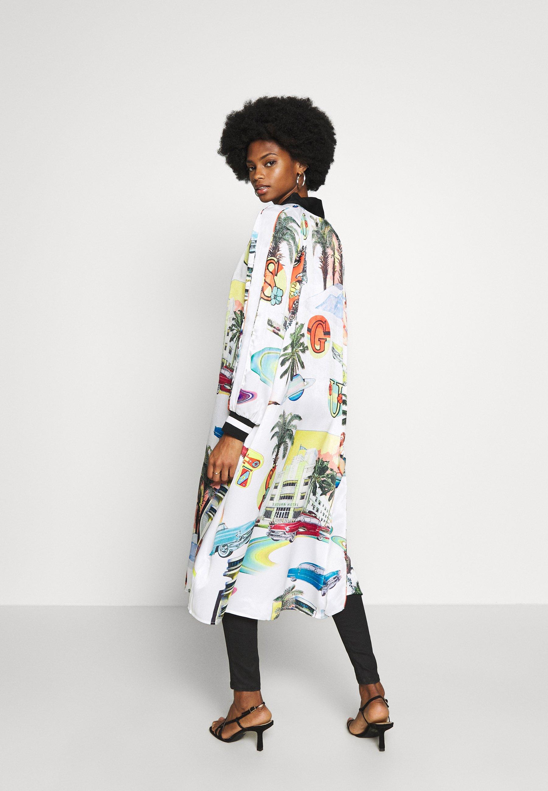 Guess BONNIE LONG JACKET - Płaszcz wełniany /Płaszcz klasyczny - multi-coloured