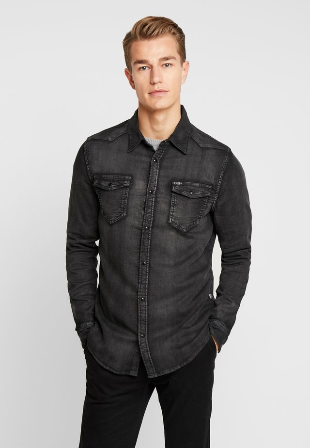 TRUCKEE SHIRT - Overhemd - black denim