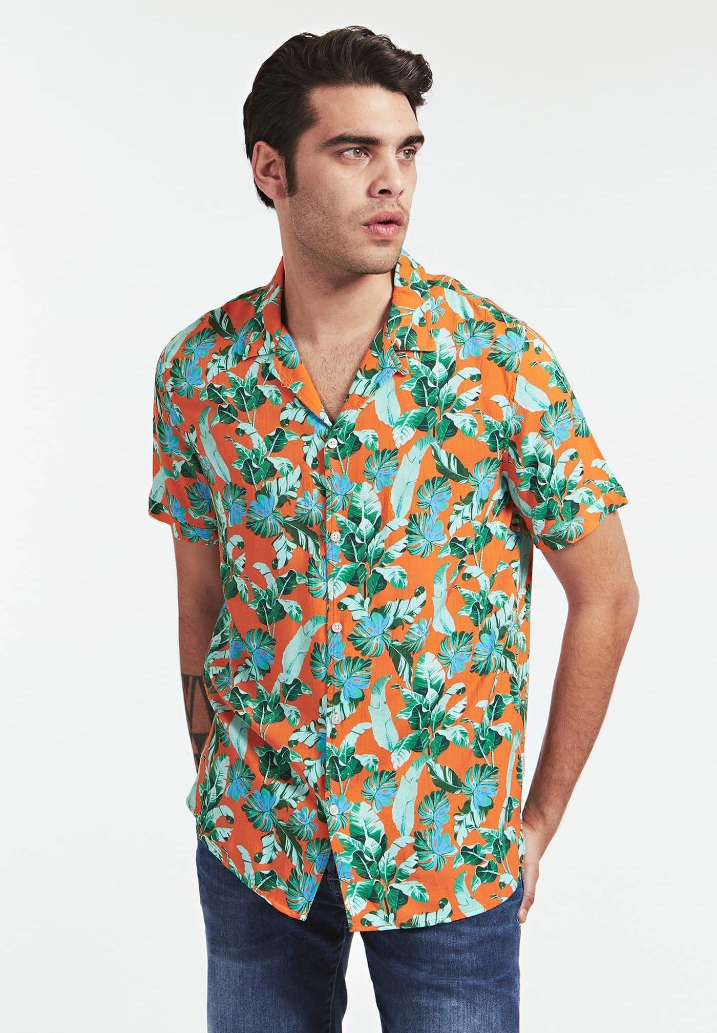 Guess RESORT - Koszula - orange mehrfarbig
