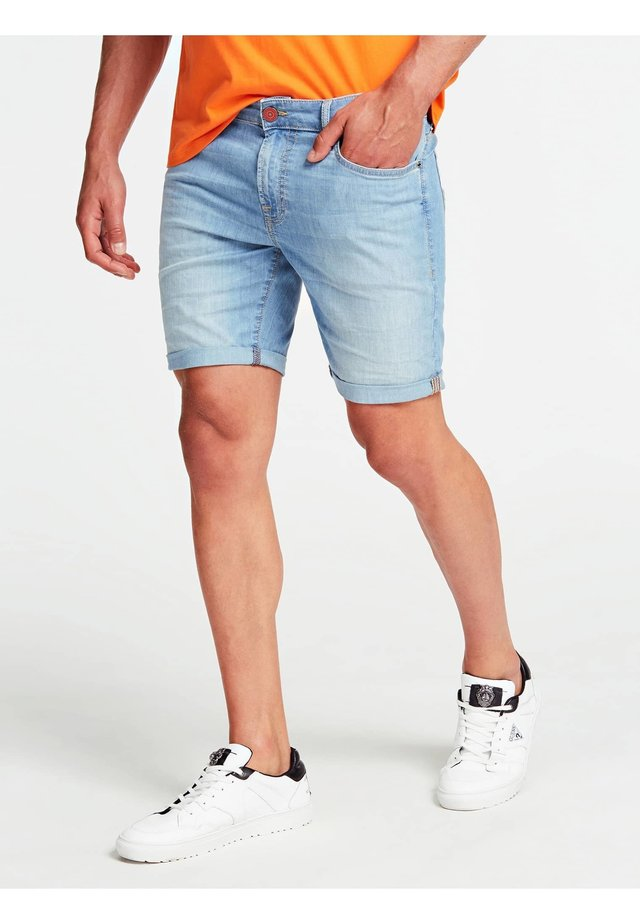 Jeansshort - himmelblau