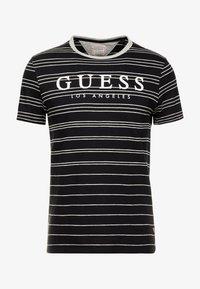 Guess - SIMON TEE - T-shirt z nadrukiem - jet black/grey - 4