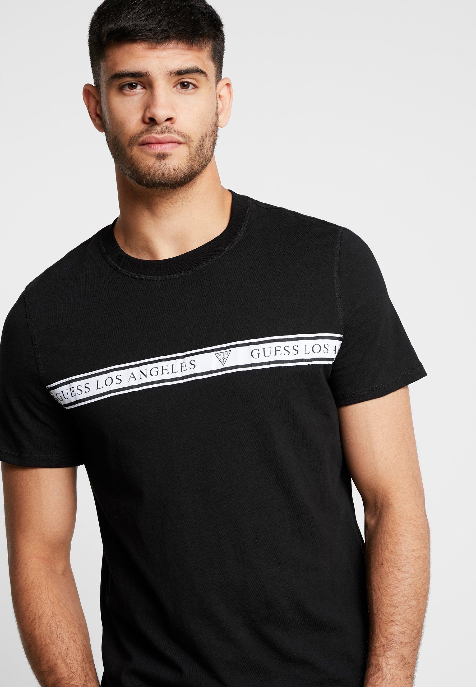 ImpriméJet shirt Guess T shirt Black T T shirt Black Guess Guess ImpriméJet ImpriméJet CtrhsdQ