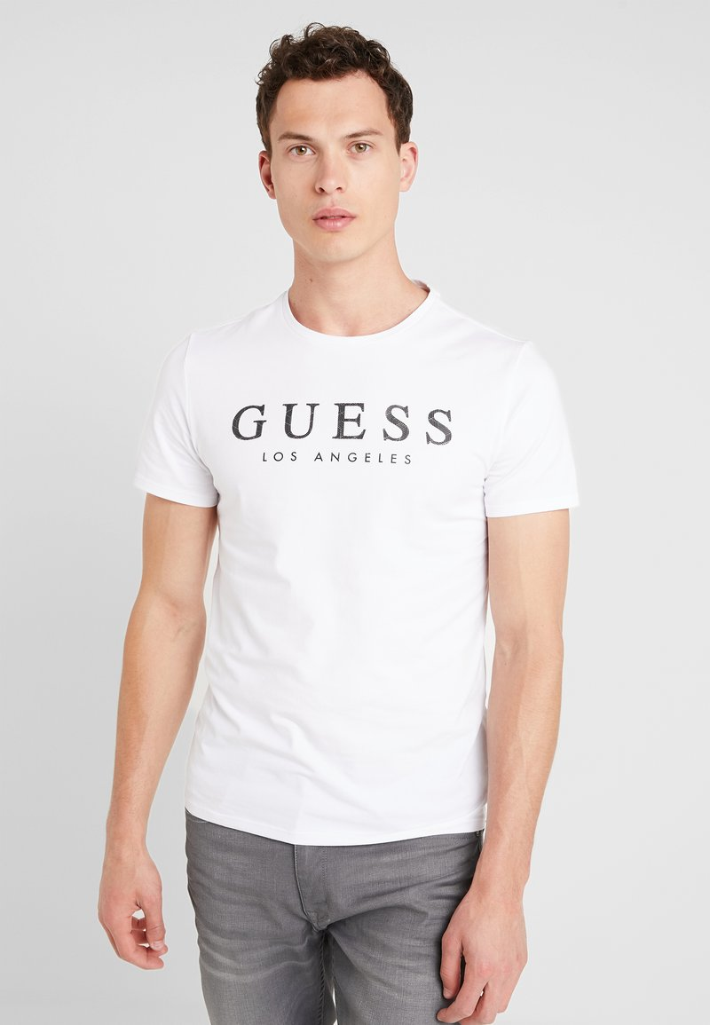 Guess - LOS ANGELES - T-shirt con stampa - true white