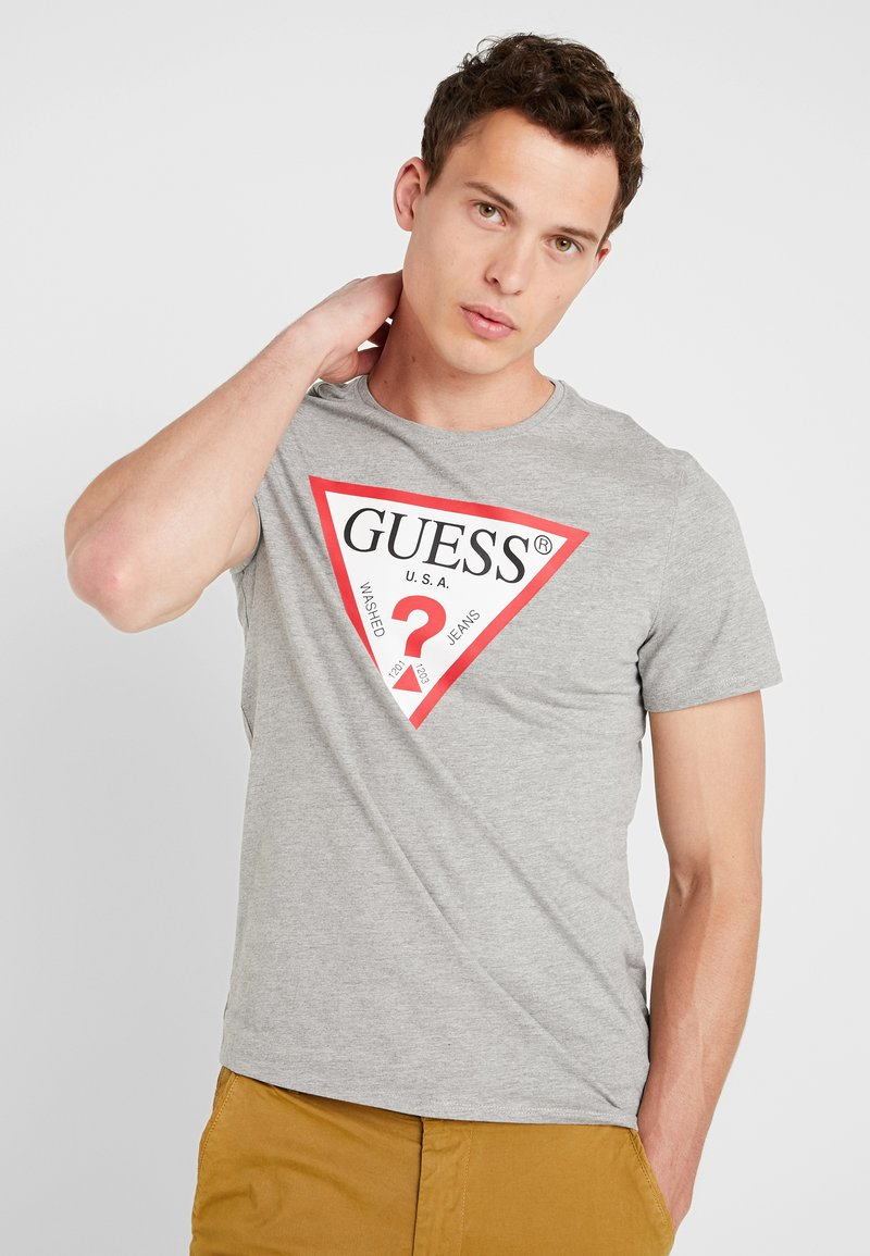 Guess - CORE ORIGINAL - T-shirt print - stone heather grey
