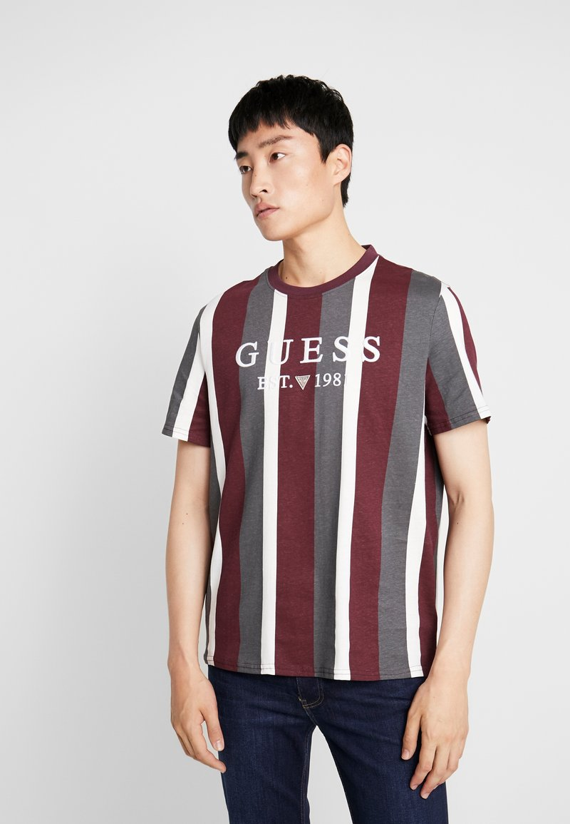Guess - T-shirt con stampa - dark purple