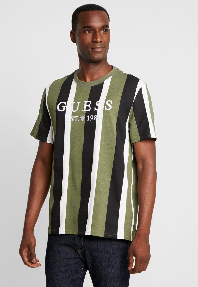 Guess - Print T-shirt - dark green