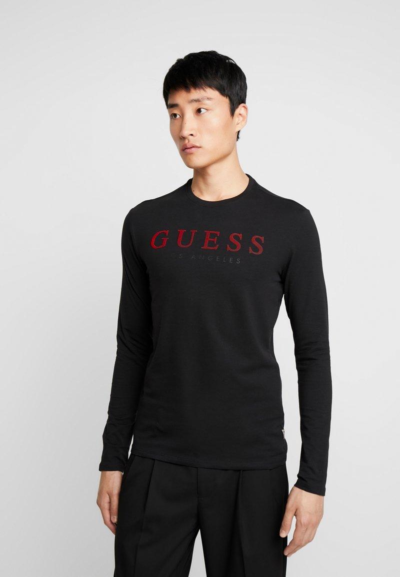 Guess - ORIGINAL CORE TEE - Long sleeved top - jet black