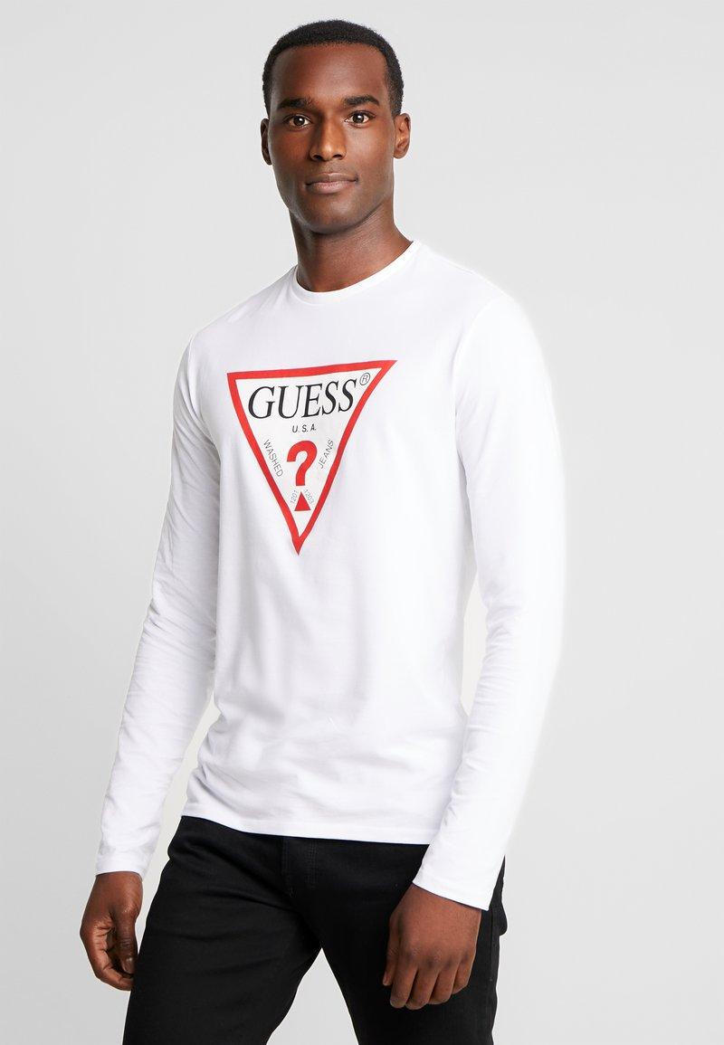 Guess - ORIGINAL LOGO CORE TEE - Camiseta de manga larga - white