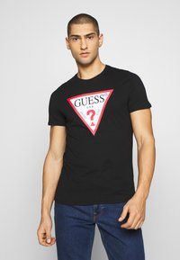 Guess - ORIGINAL LOGO TEE - T-shirt print - jet black - 0