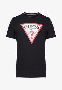 Guess - ORIGINAL LOGO TEE - T-shirt print - jet black - 4