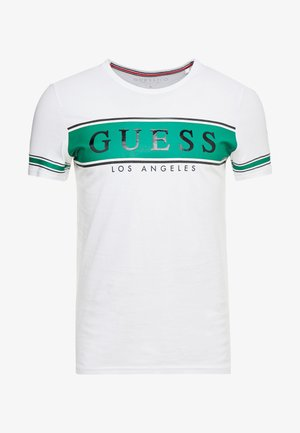 BANNER TEE - T-shirts print - white/green