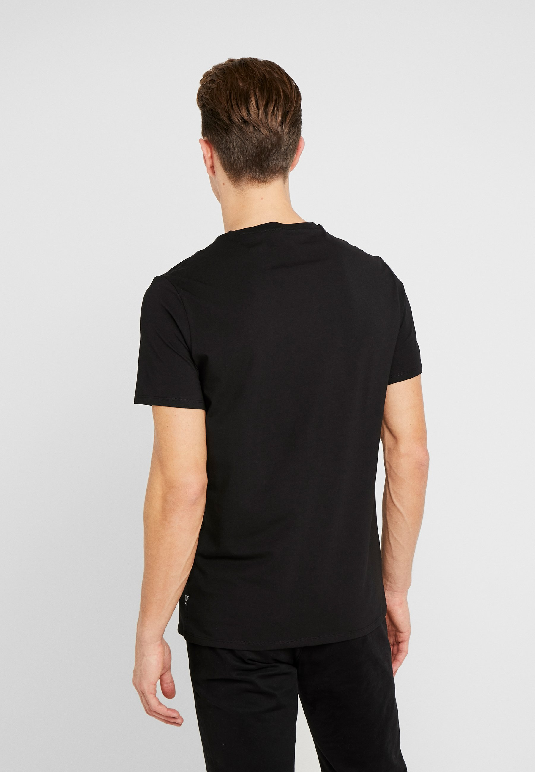 Guess Cn Ss Sprayer Tee - T-shirt Print Jet Black