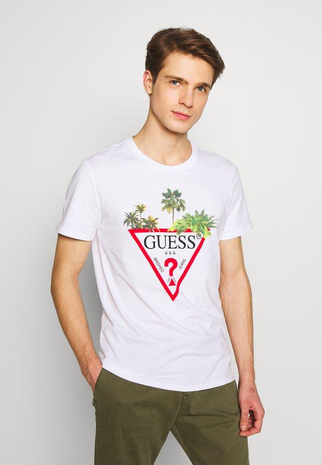 PALM TRIANGLE TEE - T-shirt print - blanc pur