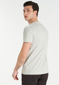 Guess - PALM TRIANGLE TEE - T-shirt con stampa - grigio - 2