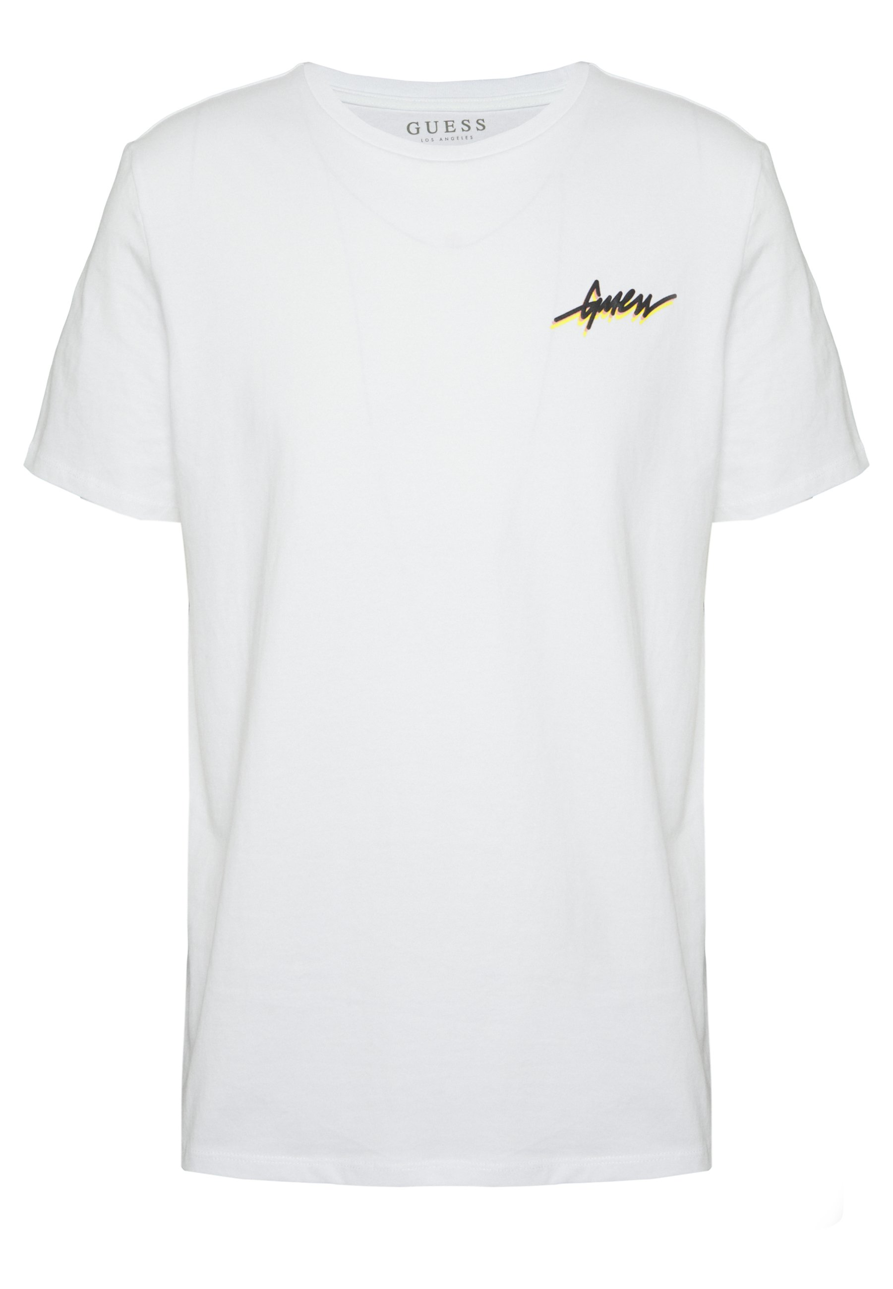Guess REMOTE TEE - T-shirt z nadrukiem - blanc pur