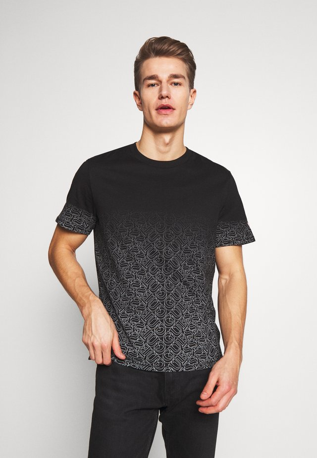 T-shirt print - jet black