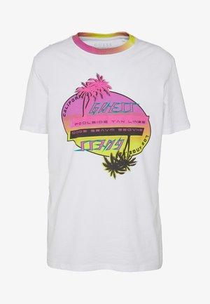 UPSIDE DOWN TEE - T-shirt imprimé - blanc pur