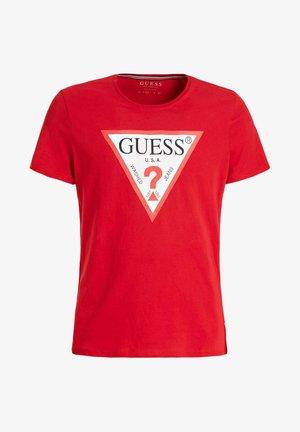 T-SHIRT LOGODREIECK - T-shirt con stampa - rot