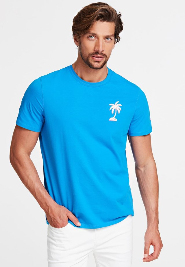 T-SHIRT GIROCOLLO - T-shirt con stampa - blu