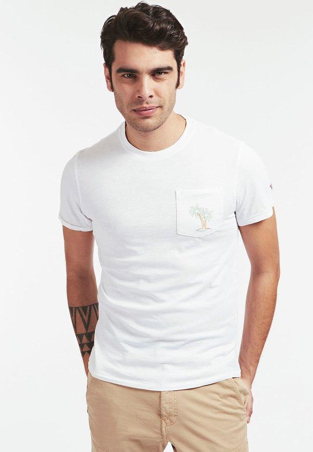 T-SHIRT TASCA FRONTALE - T-shirt basic - white