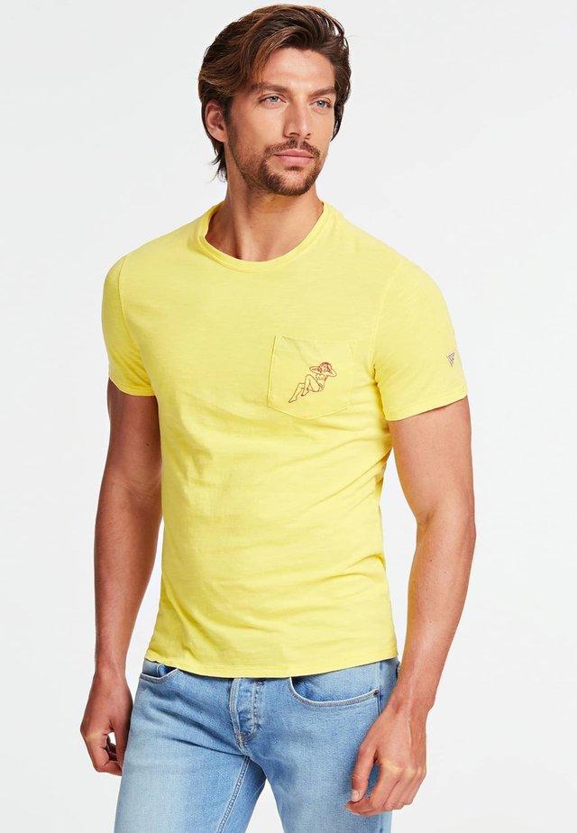 T-SHIRT TASCA FRONTALE - T-shirt basic - yellow