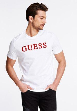 T-SHIRT LOGO VELLUTO - T-shirt z nadrukiem - bianco
