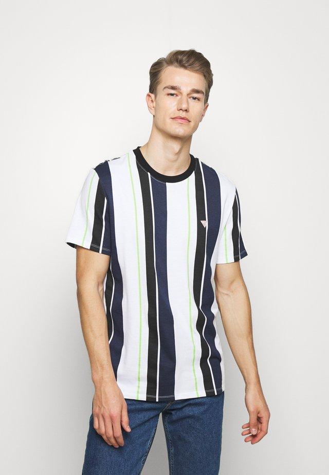 STRIPES TEE - T-shirt print - blue