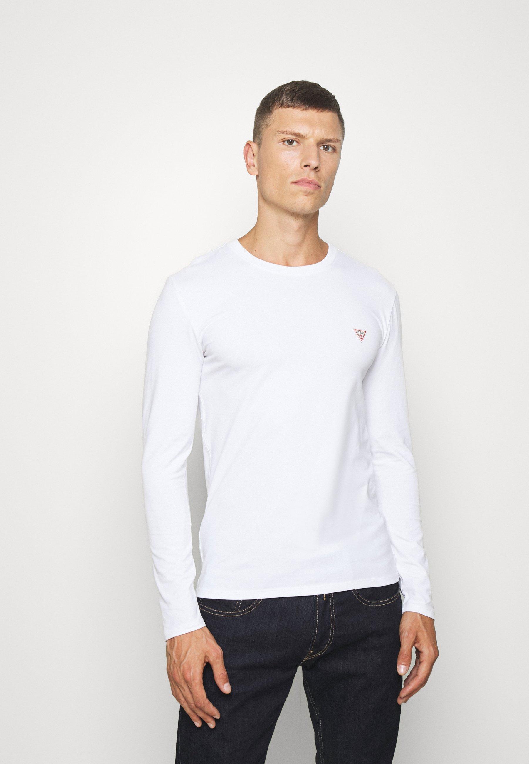 Guess CORE TEE T shirt à manches longues blanc pur