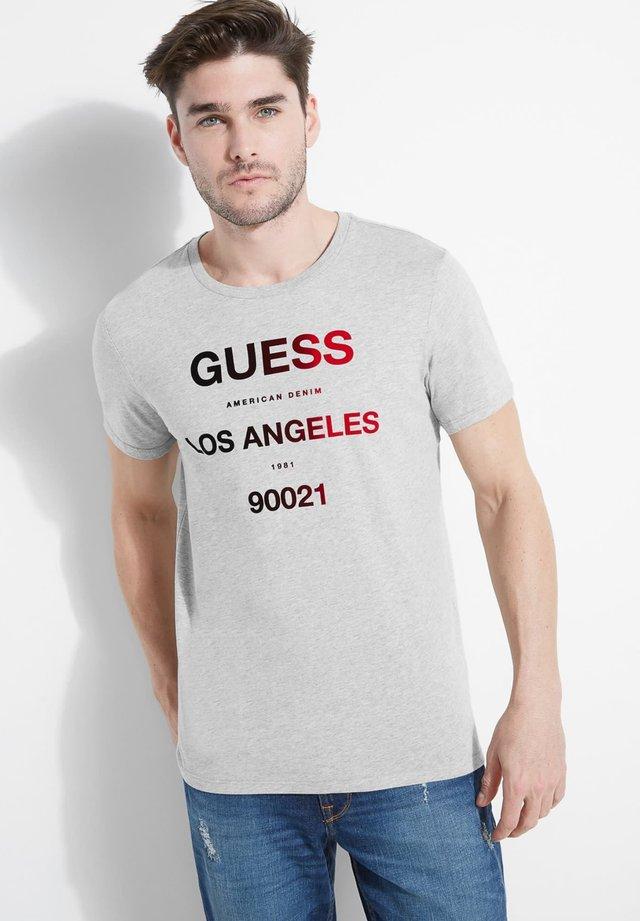 T-shirt print - hellgrau
