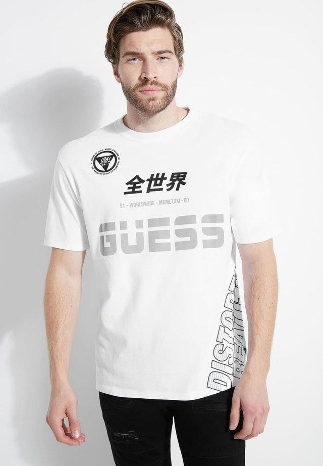 T-shirt print - gris clair