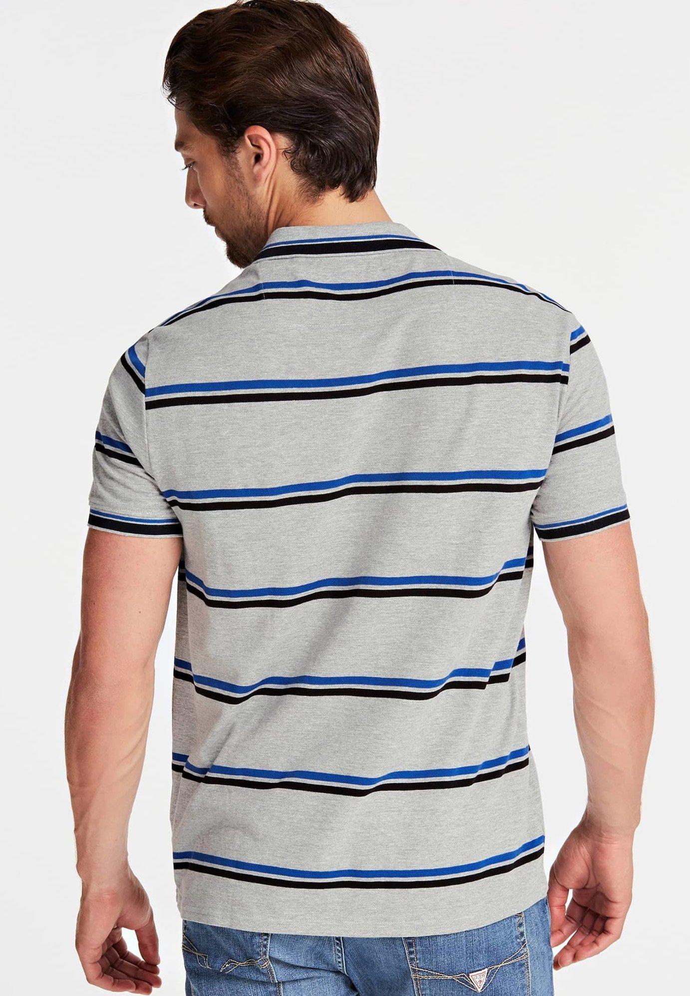 Guess QUERSTREIFENMUSTER - Polo shirt - grey