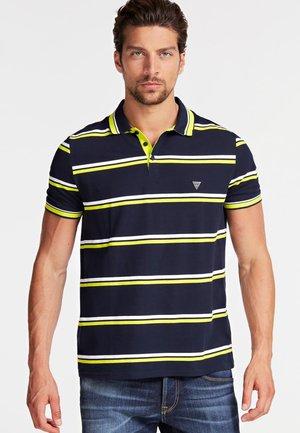 QUERSTREIFENMUSTER - Polo shirt - blue