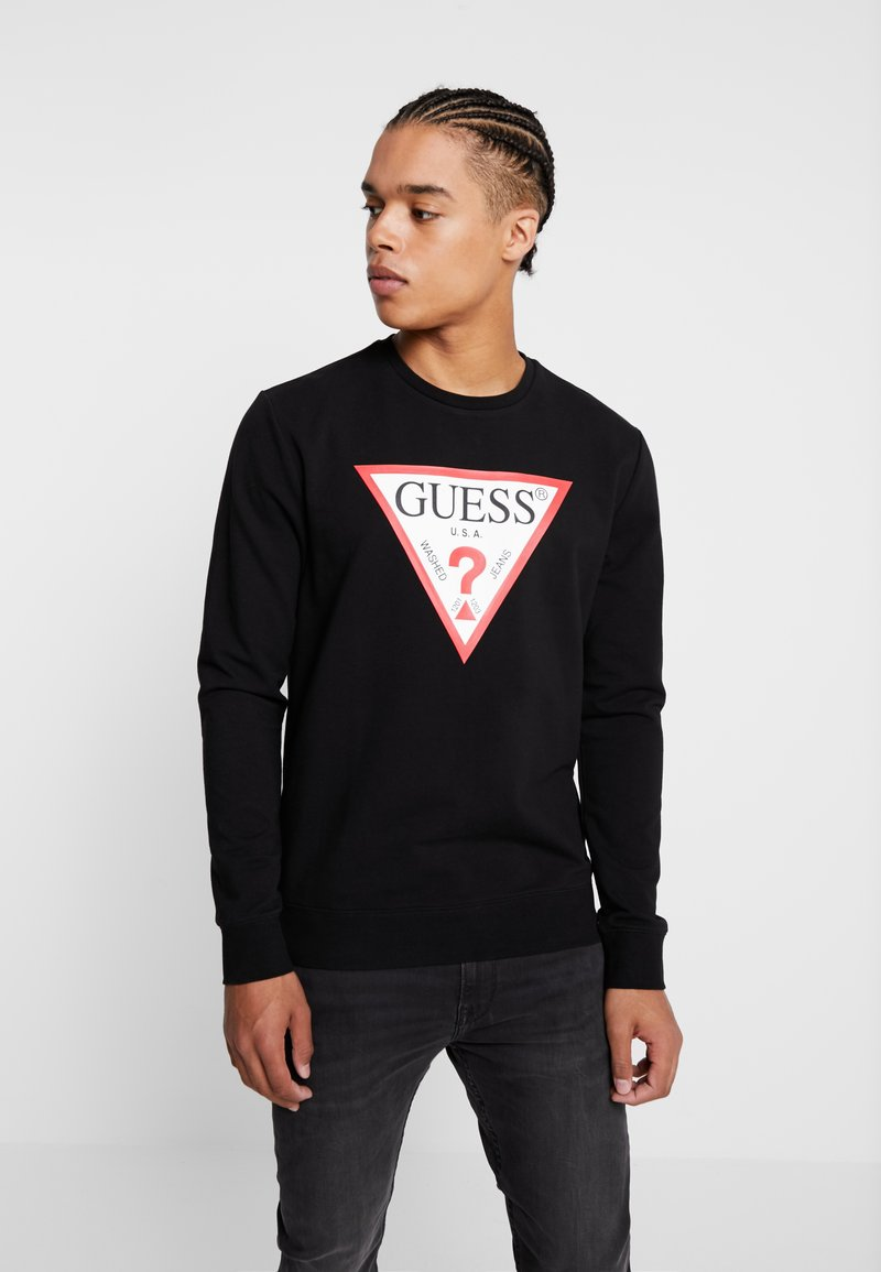 Guess - REGULAR FIT - Sweatshirt - jet black