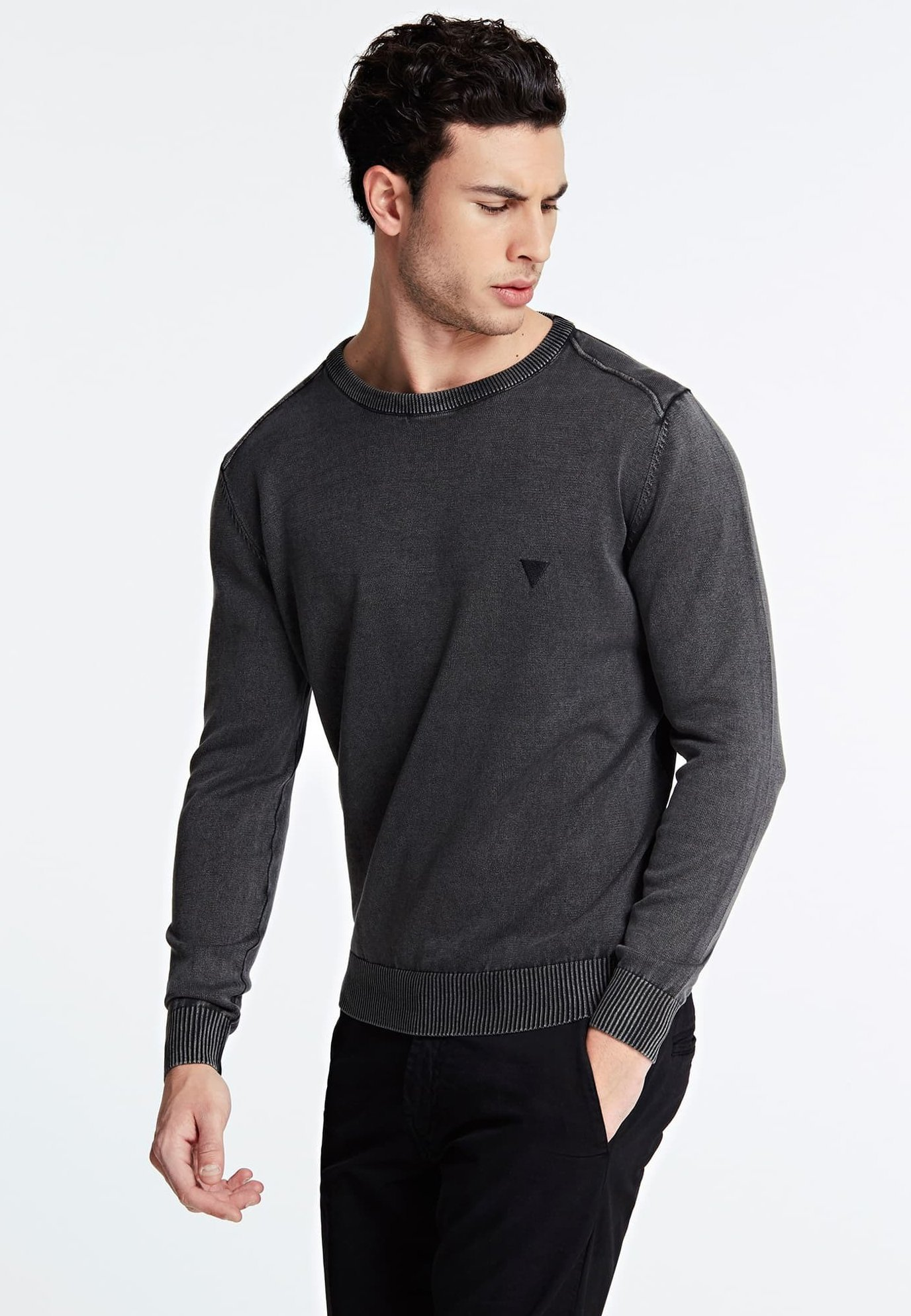 Guess GUESS PULLOVER BAUMWOLLE - Sweter - schwarz